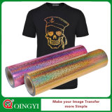 Qingyi stellen Hologramm-Wärmeübertragung-Vinyl für T-Shirt zufrieden