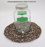 Acqua di memoria/vaso di vetro bevanda/del vino con il coperchio ed il colpetto del metallo