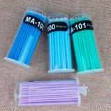 tampone molle di cotone 50PCS/Pack del tampone del ciglio di estensione del micro degli applicatori della mascara cotone specifico a gettare della spazzola