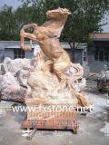 Gesneden Witte Marmeren Pegasus voor de Decoratie van de Tuin