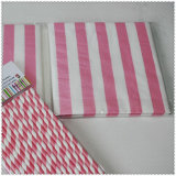 1/4 faltendes Eco-Friendly Party Striped Paper Napkin mit Color Printed