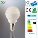 lampe d'ampoule de 4000k G45 3W LED avec du CE RoHS SAA
