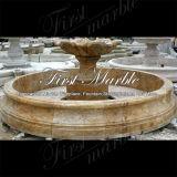 Fontana dorata Mf-1043 del calcio del granito del travertino di pietra di marmo del giardino