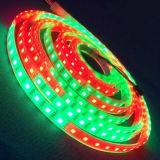 Flexibler DC12V LED Streifen weiße RGB-wasserdichte Weihnachtsbeleuchtung