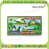 Souvenir promotionnel personnalisé Valence (RC-ES) d'aimants de réfrigérateur de PVC de décoration de cadeaux