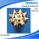 Bit de tecla de T51-102mm para a perfuração