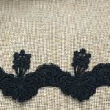 Laço do bordado da forma da borboleta da alta qualidade para acessórios do vestuário