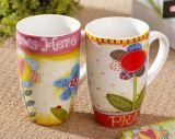Caneca de café bonita da caneca da porcelana Presente criativo do teste padrão Caneca de China da copa de China