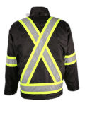최신 판매 검정 PVC Oxfprd 방수 방풍 옥외 재킷