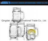 450ml ontruim de Kruik van de Metselaar van het Glaswerk met Handvat voor Voedsel en Drank