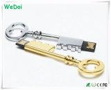 USB elegante Pendrive da chave do metal com logotipo personalizado (WY-M07)