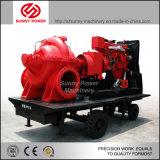 10inch de diesel Pomp van het Water voor de Drainage van de Irrigatie/van de Vloed met Aanhangwagen
