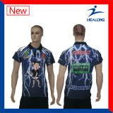 Camisa de polo llena del Mens de la sublimación de la venta caliente de Healong