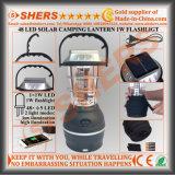 Indicatore luminoso solare ricaricabile del LED con 1W la torcia elettrica, dinamo, USB (SH-1992A)