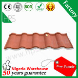 Projetos materiais da telhadura da cor nas folhas revestidas de pedra da telhadura de Nigéria