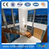 Projeto fixo decorativo de alumínio de vidro dobro do indicador da construção