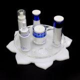 Étalage cosmétique acrylique de renivellement d'étalage de forme de lotus
