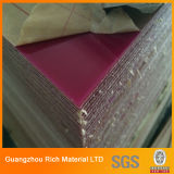 Le plastique lustré élevé de couleur a moulé la feuille acrylique pour l'impression en soie