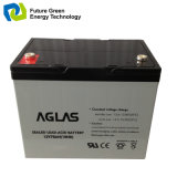 12V75ah太陽LEDライトのための再充電可能なVRLAの蓄電池