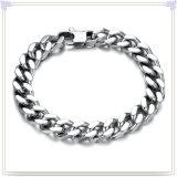 De Armband van het Roestvrij staal van de Armband van het Silicone van de Juwelen van de manier (HR150)