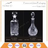 Decorar o frasco de vidro gravado teste padrão para o vinho, a bebida e o empacotamento dos espírito