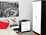 オタワ3部分の光沢度の高い寝室のワードローブの戸棚セット