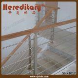 ステンレス鋼材料(SJ-X1016)を柵で囲む階段のための屋内棒手すり