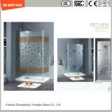 4-19mmの反指紋のホテルのための酸のEthcedの緩和されたガラスのシャワーのパネル