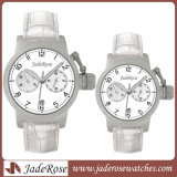 Japão Movement Highquality Stainless Steel Watch com Leather Strap