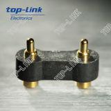 contactos por resorte de Pogo del contacto eléctrico 2pin, plástico negro