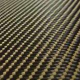 Tela del híbrido de la fibra de la fibra el 25% Kevlar del carbón del 75%