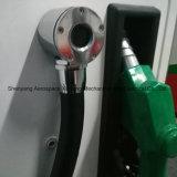 Stazione di servizio del gas di singola pompa e di due visualizzazioni dell'affissione a cristalli liquidi