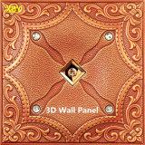 Panneau de mur en cuir d'unité centrale du revêtement 3D de mur de titre de mur