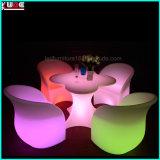 La silla del brazo del LED y el vector de la dimensión de una variable de la flor encienden para arriba los muebles