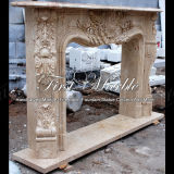 Antique Travertine Fireplace for Home Furniture Mfp-1123