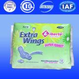 Anionen-gesundheitliche Servietten für Mauritius, Breathable gesundheitliche Auflagen, China Soem-Hersteller