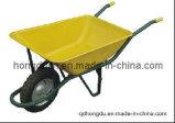 鋼鉄皿の空気タイヤの一輪車(WB6401)