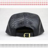 カスタムロゴパッチが付いている5つのパネルの帽子