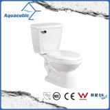 Toalete cerâmico do armário de duas partes de Siphonic do banheiro (AT0221)