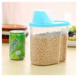 2.5L cancelam o tanque de armazenamento do alimento da cozinha com o Crisper plástico dos cereais da grande capacidade do copo