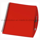 Carnet de notes à spirale de couverture d'A4 pp avec le crayon lecteur pour la vente en gros (PPN221)