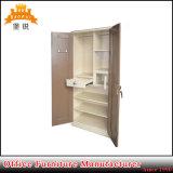 Ferro della camera da letto del doppio portello del metallo all'interno del guardaroba d'acciaio dell'armadio dei vestiti del cassetto