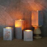 Metallische flammenlose Kerze des Quadrat-LED
