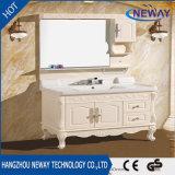 Pavimento all'ingrosso che si leva in piedi la vanità della stanza da bagno di legno solido