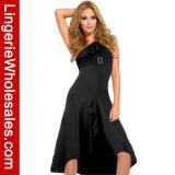Платье вечера плеча женщин одно отвесное шифоновое Ruffled несимметричное