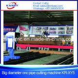 Macchina di smussatura di taglio dell'intersezione di CNC della base del rullo del tubo del grande diametro con Plamsa e Kr-Xg di taglio alla fiamma