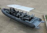 Barco de motor inflable rígido de China Aqualand 30feet los 9m/barco de Pessenger/bote patrulla de la costilla (RIB900B)
