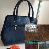 Retro Steigung-Farben-Krokodil PU-Leder für Handtaschen