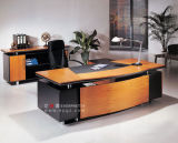 Alta calidad Wood Manager Office Computer Table Writing Desk con Cabinet