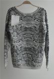 Suéter modelado suéter redondo del Knit del cuello de las señoras